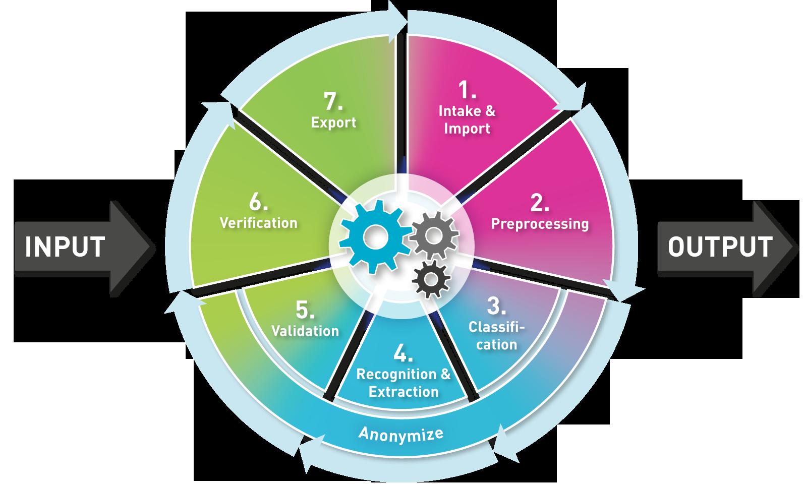 Registrierung, Automatisierung und Verarbeitung eingehender Informationen: die Phasen