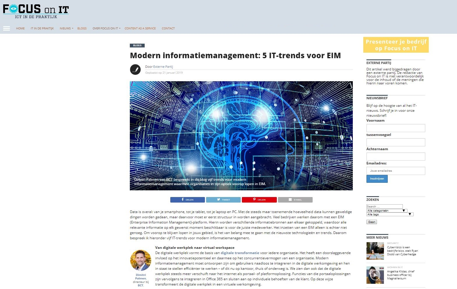 Modern informatiemanagement: 5 IT-trends voor EIM