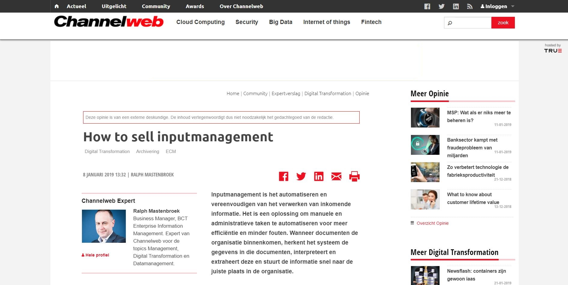 artikel How to sell inputmanagement - BCT