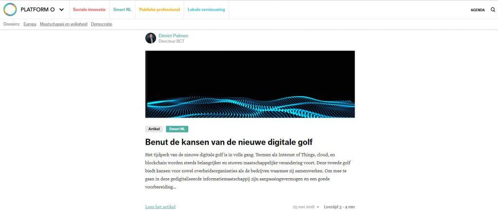 BCT publicatie de nieuwe digitale golf