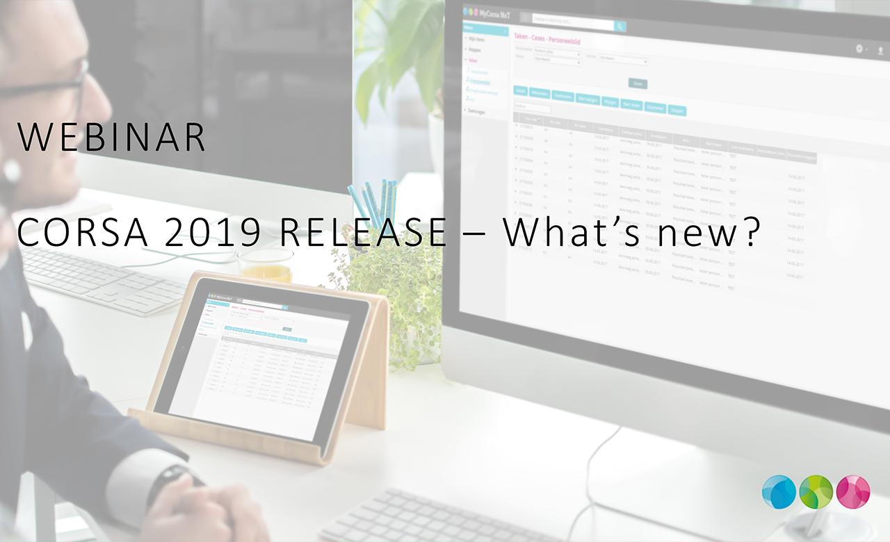 On demand Webinar Corsa 2019 release