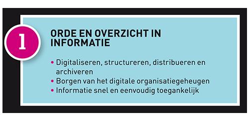 FASE 1 - Orde en overzicht in informatie