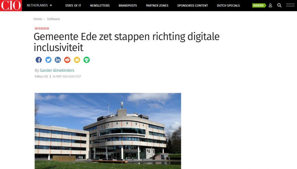 Interview: Gemeente Ede zet stappen richting digitale inclusiviteit