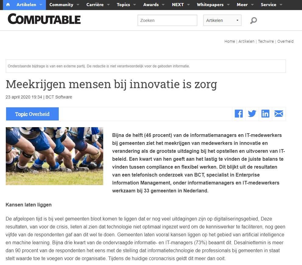 Meekrijgen mensen bij innovatie is zorg