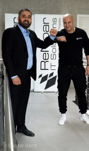 Khaled Daftari, Partnermanager DACH bei BCT Deutschland, und ReNoar-Inhaber Redouan Yotla (von links nach rechts)