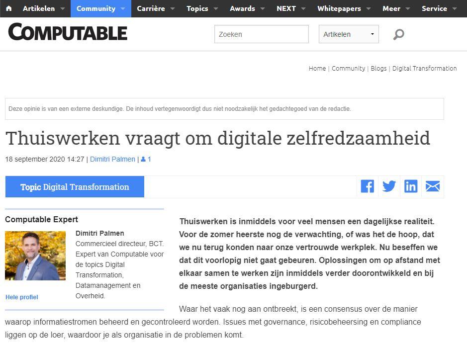 Thuiswerken vraagt om digitale zelfredzaamheid